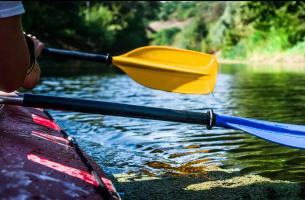 Canoeing on the river Garonne